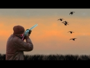 лучшие гусиные налеты .Как манить гуся,гусиные звуки при подлете,охота на гуся!
