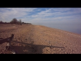 Азовское море в станице Голубицкая в конце декабря