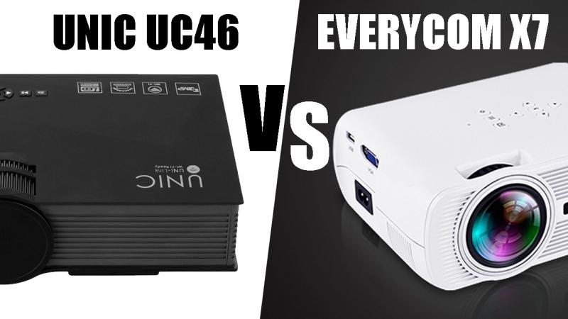 Unic uc46 vs Everycom x7 Сравнение проекторов тестовым видео.