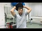Забытое упражнение вращение блина над головой! Укрепляем грудь, плечи, спину, пресс, руки!
