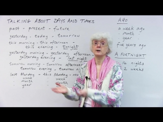 Learn English- Using AT, IN THE, AGO, and more words to talk about time