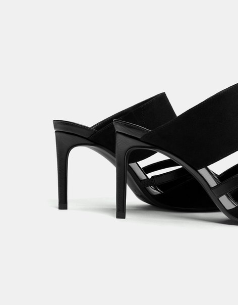 Туфли без задников, на каблуке-шпильке