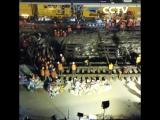 В Китае 1500 рабочих за ночь построили железную дорогу