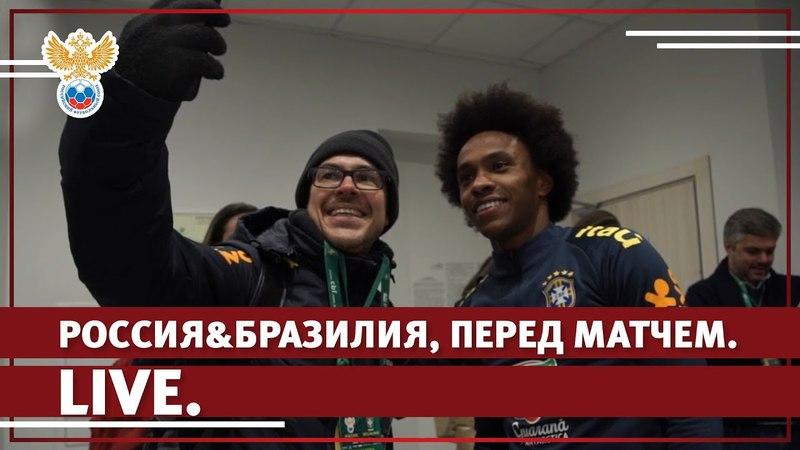 Россия Бразилия, перед матчем. Live l РФС ТВ