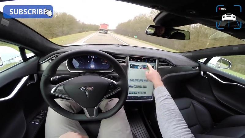 Tesla Model S P90D 762 HP POV AUTOBAHN Acceleration AutoPilot Ludicrous by AutoTopNL