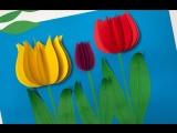 Бумажные тюльпаны: мастер-класс