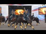 Развод конных и пеших караулов Президентского полка в Ярославле