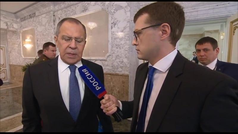 Ответы С Лаврова на вопросы ВГТРК на полях Совместного заседания СМИД СМО и СБ ОДКБ