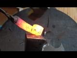 Ковка рола из дамасской стали
