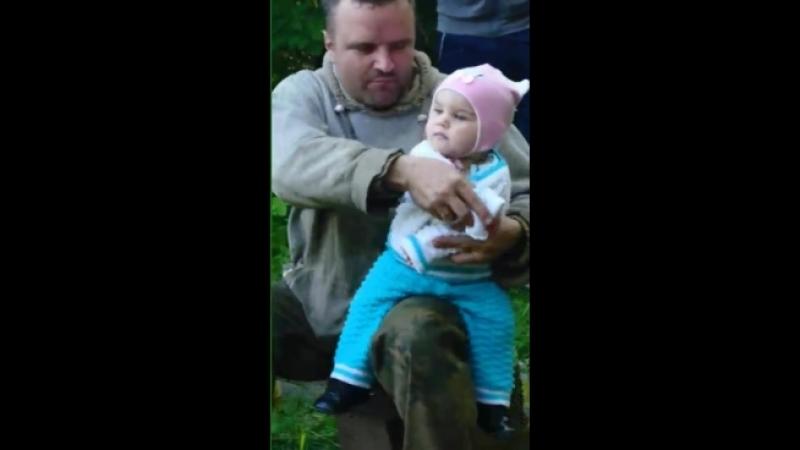 танцуем с дочерью. Папа жжет