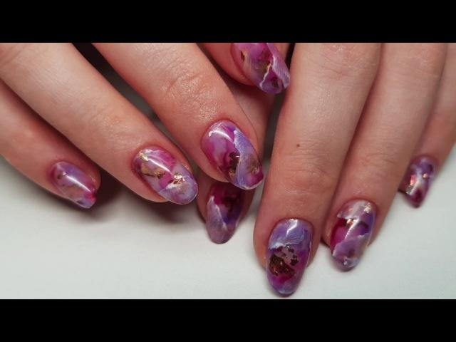Дизайн ногтей РОЗОВЫЙ МРАМОР | Pink Marble Nails