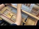 Rosepath weaving on Ashford table loom