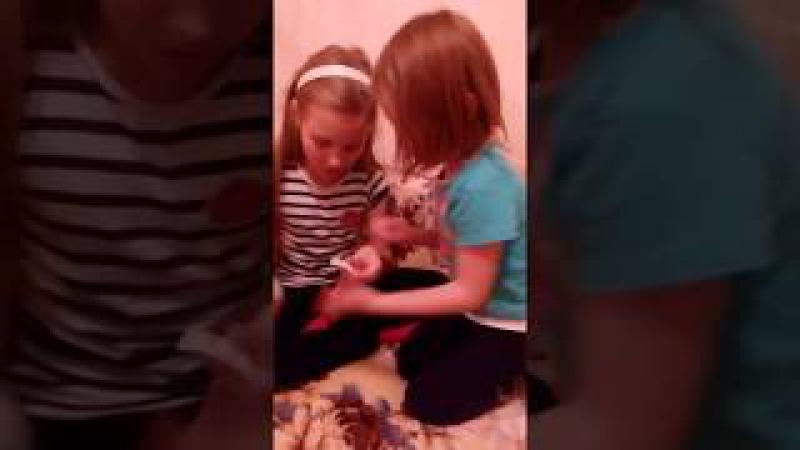 Куклы LOL смотреть видео .Дочки в предвкушении , что же там внутри.