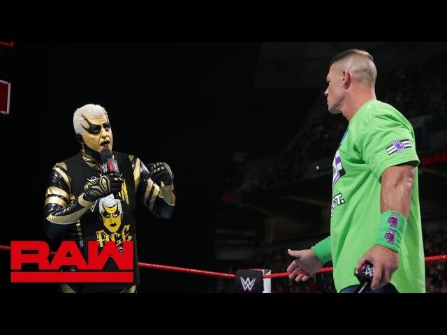 Goldust wants to shatter John Cena's dreams Raw March 5 2018