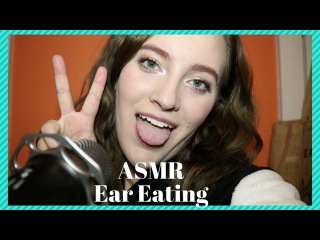 ASMR Ear Eating and Mic Licking (Mouth Sounds)
