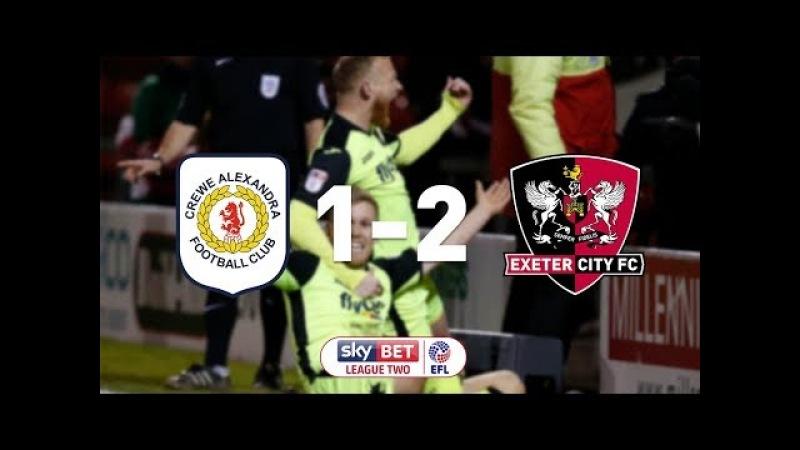 Crewe Alexandra 1 Exeter City 2 20 2 18 EFL Sky Bet League 2