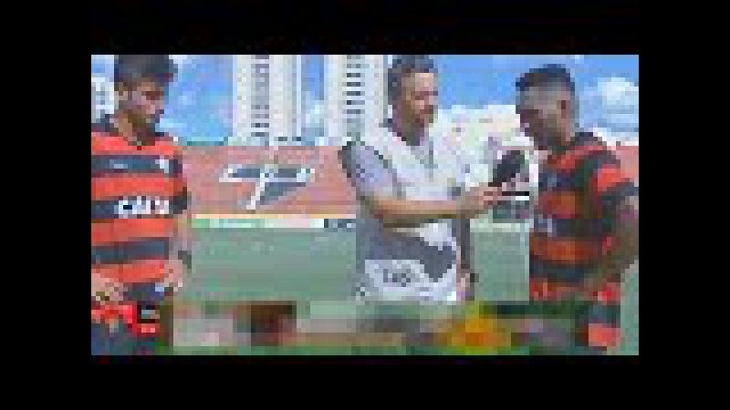 Entrevista com Luan e Eron no jogo Vitória x Londrina