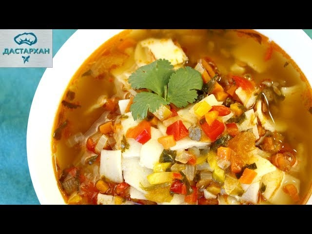 МАМПАР ☆ Вкуснейший ГУСТОЙ СУП С КЛЕЦКАМИ ☆ Уйгурская кухня ☆ Дунганская кухня ☆ Манпар ☆ Мампяр