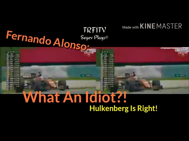 What An Idiot Hulkenberg Is Right - Fernando Alonso Funny Team Radio At Malaysia