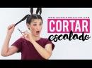 Cómo cortar el cabello escalado con 4 coletas Hazlo tu misma