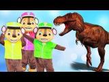 Learn colors with BAD BABY Giant Dinosaur Nursery Rhymes songs for kids Щенячий патруль Динозавр