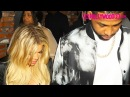Khloe Kardashian Tristan Thompson Get Hit In The Head By Their Car Door At His Birthday Party
