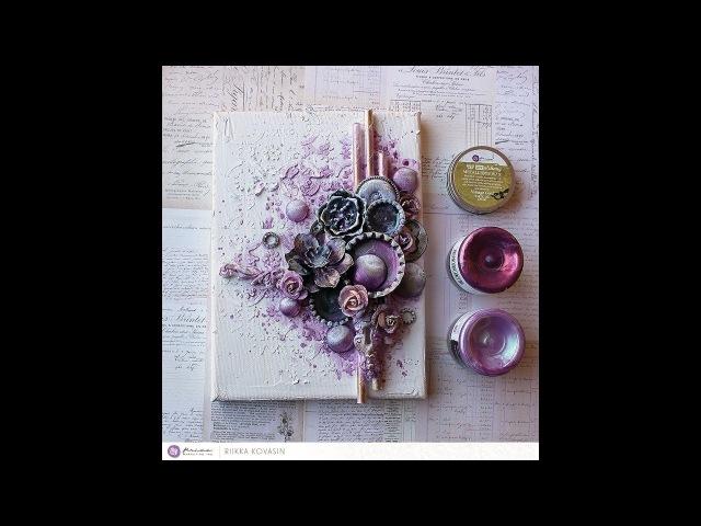 Blueberry Beauty - A Mixed-Media Canvas by Riikka Kovasin