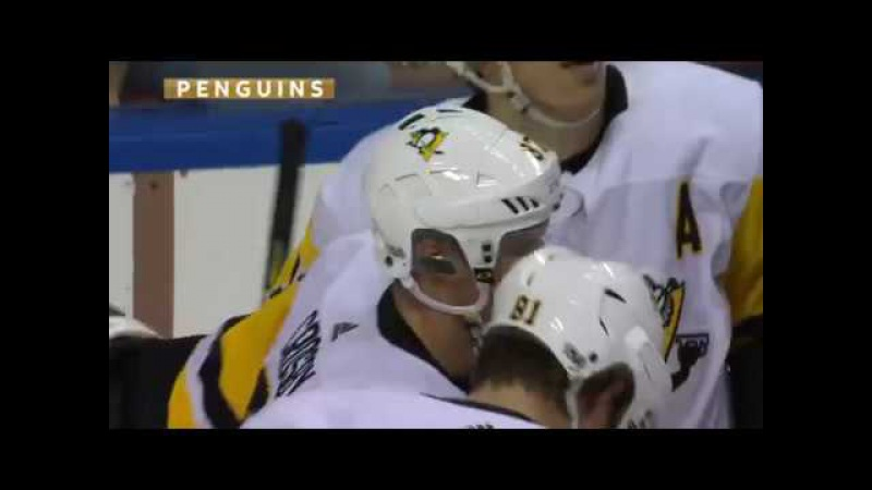 Evgeni Malkin assists on Sidney Crosby PPG for lead vs Panthers (2017)