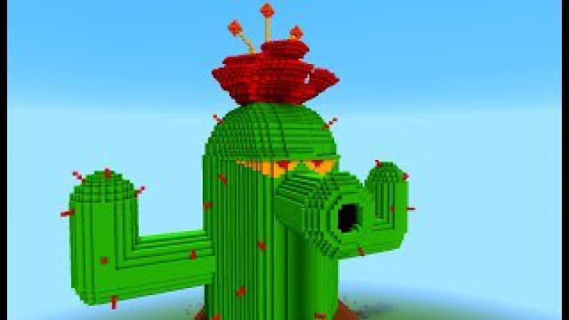 GIGA Cactus | Minecraft vs Zombies (Working!) | PvZ Land | Plantas contra Zombies