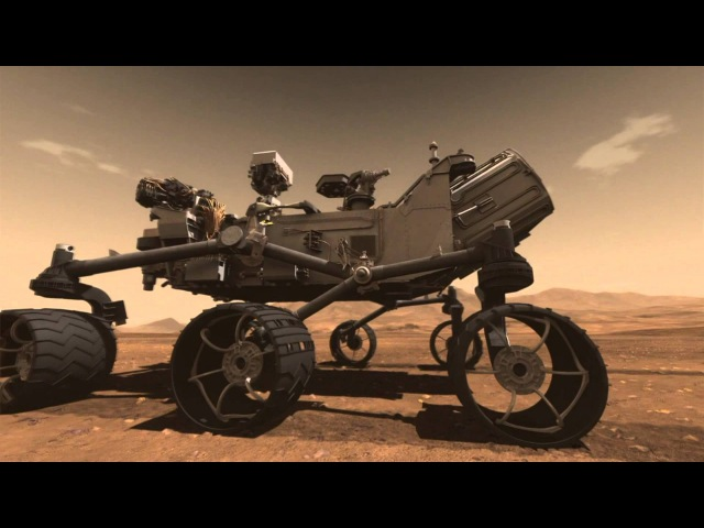 Mars Curiosity Rover Lands On Mars