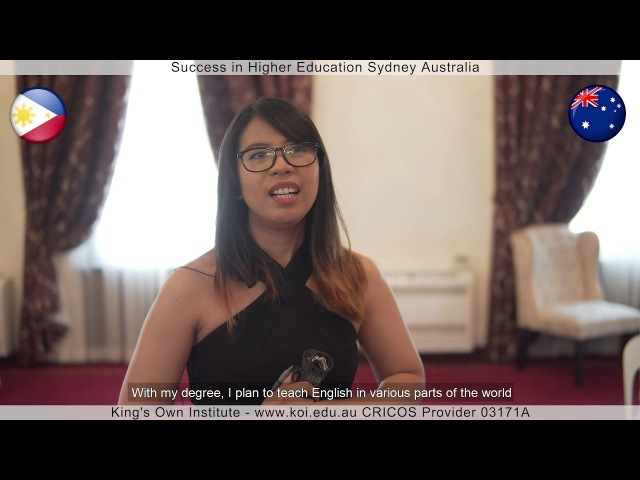 KOI Graduate's Testimonial - Honey BELTRAN Philippines, Master of Arts TESOL