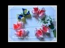 МК Объемные бантики- бабочки 🎀🦋8 см/Rolo de ouro volumétrico/Volumetric buttercups