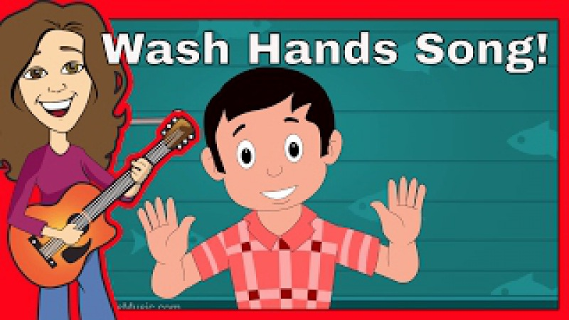 Wash Our Hands Children's Song | Nursery Rhyme for Toddlers, Kids with Lyrics | Patty Shukla