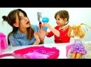 Новая прическа для Вики и куклы Барби! Игры парикмахерская.