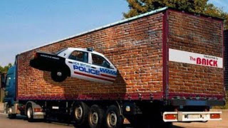 Реклама и 3д рисунки на грузовых машинах 2 Креатив дальнобойщиков HD