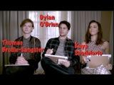 Maze Runner The Death Cure Cast Interview Dylan O'Brien, Kaya Scodelario, Thomas Brodie-Sangster