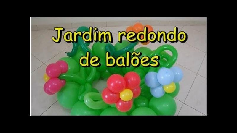 Jardim redondo de balões