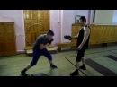 Отработка удара коленом в пах Максим