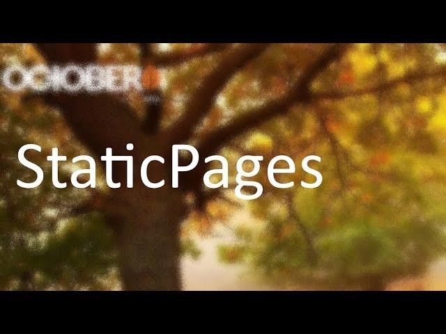9 October CMS Static Pages Страница блога видео с YouTube канала Dmitry Afanasyev