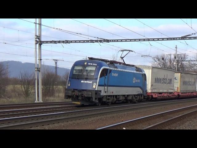 Nákladní vlaky Lipník nad Bečvou 18.11.2017