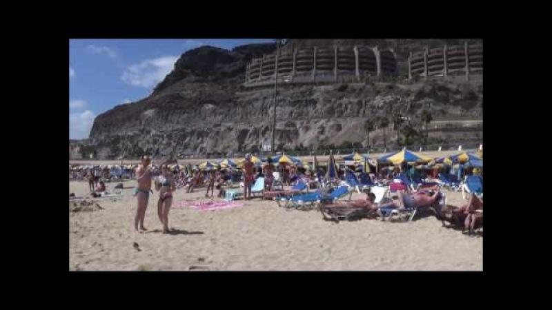 Пляжи Де Амадорес и Пуэрто Рико на Гран Канарис Playa de Puerto Rico, Playa de Amadores 2016