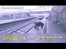 Incredible surveillance camera shows a heroic woman saving a suicidal man's life in England. 2018