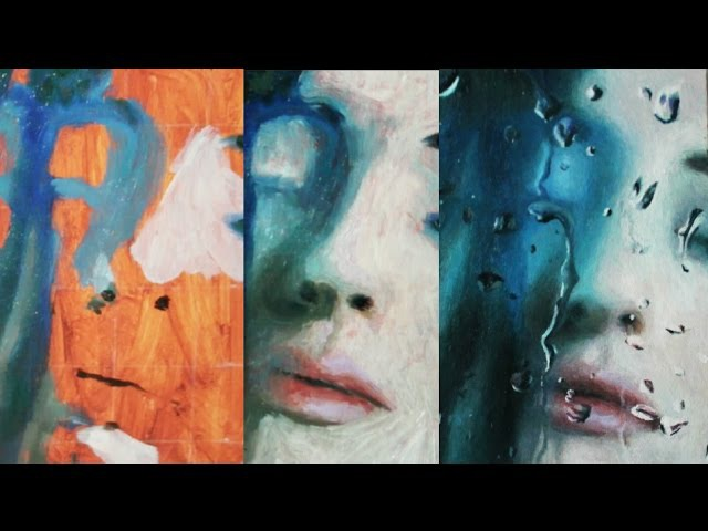 Speed Painting | Just Breathe In (realistic water droplets, blurred face)