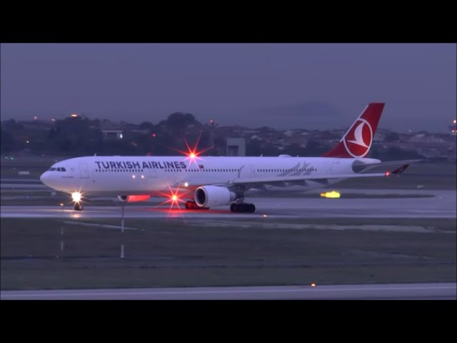 [HD] THY Airbus A330-300 takeoff at Istanbul Ataturk Airport - 10102015