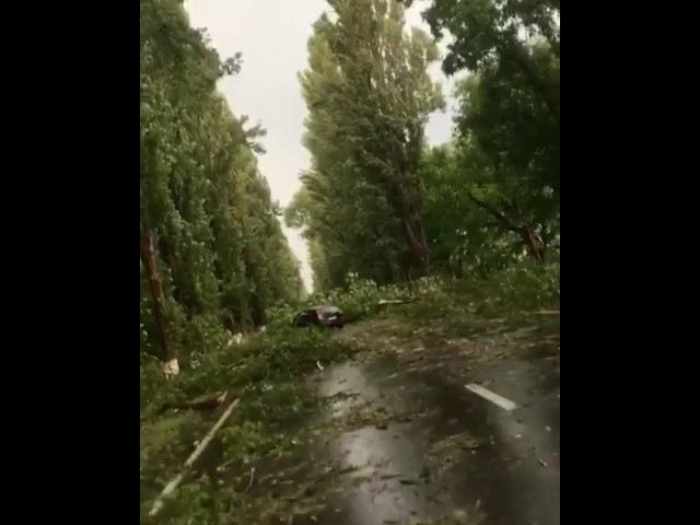 Посмотрите, какие у нас в Кабардино-Балкарии последствия мощнейшего града! Терек КБР ураган град