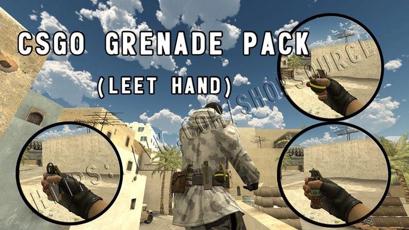 Комплект гранат из csgo на руках leet (серверные модели оружия)