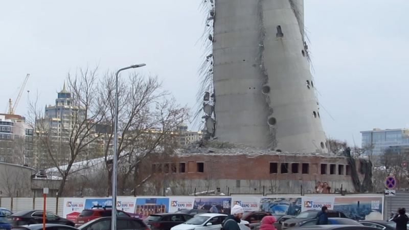 Что осталось от телебашни (через пять часов после взрыва)