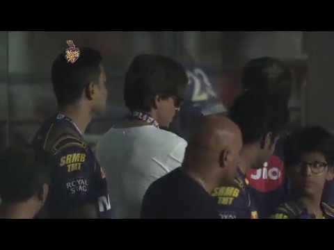 Shah Rukh Khan in the first match of KKR IPL 2018