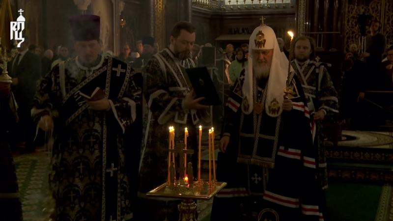 Святейший Патриарх Кирилл совершил литию по погибшим.