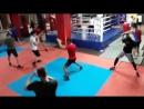 Бой с тенью на тренировке по боксу с Александром Трубниковым